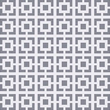 Square Lattice Wallpaper in Metallic Grey contemporary-wallpaper