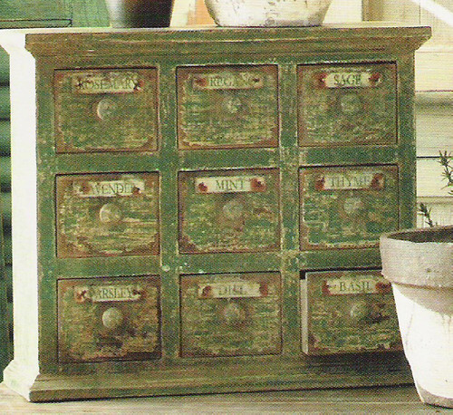 Herbal Apothecary Cabinet eclectic food containers and storage