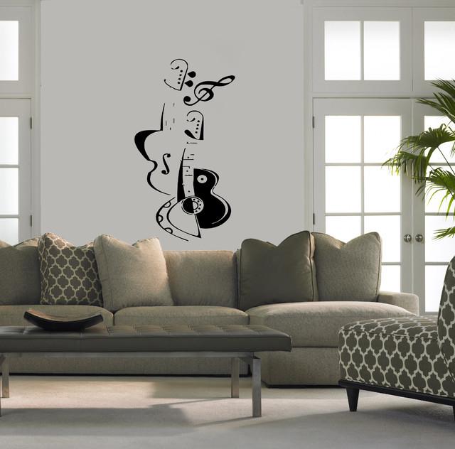 Wall Decor Stickers Modern : Wall vinyl sticker decals art mural violin and guitar