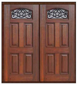 Prehung Double Door 80 Fiberglass Austin Texas Star Camber Lite Traditional
