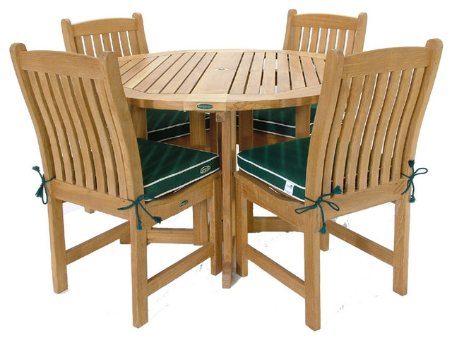 Barbuda 5pc Teak Round Gateleg Dining Table Set Modern Dining Sets By Westminster Teak