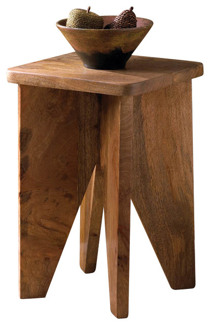 Malibu Creations Arcadian Wood Stool contemporary-side-tables-and-accent-tables