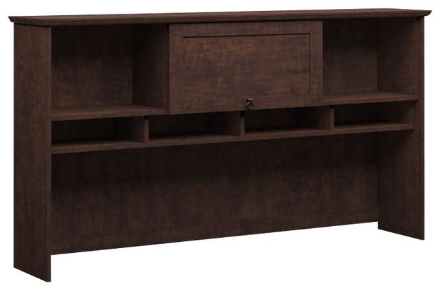 "Bush Buena Vista 60"" Hutch in Madison Cherry transitional-storage-units-and-cabinets"