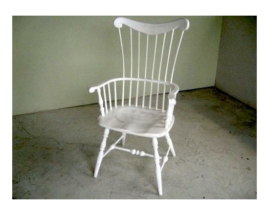 White Cottage Style Amelia Dining Chair - Made by http://www.ecustomfinishes.com