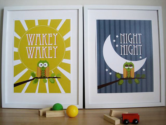 Owl Art for Kids Wall Print by Urban Tickle modern-kids-decor