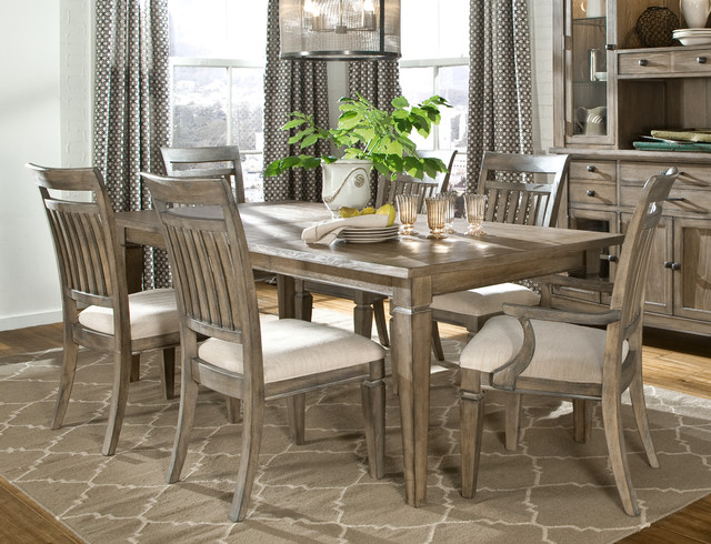 Gavin rustic dining set modern dining sets charlotte for Rustic dining room sets