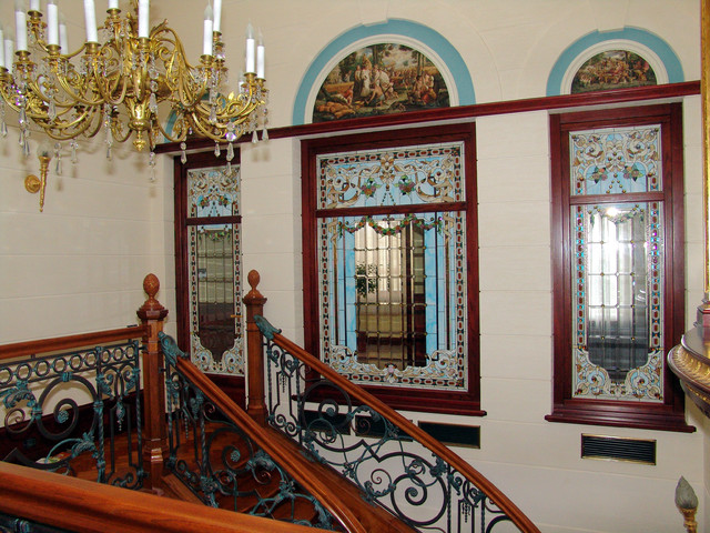 Stained glass interiors eclectic-windows