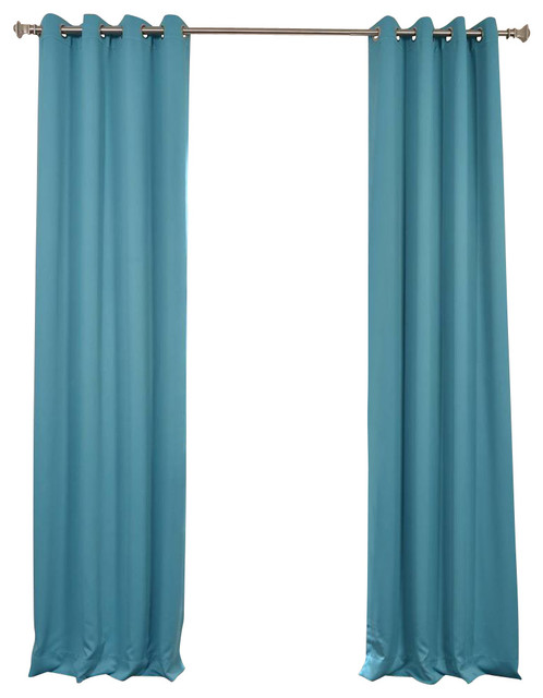 Turquoise Blue Grommet Blackout Curtain Traditional Curtains By Half Price Drapes