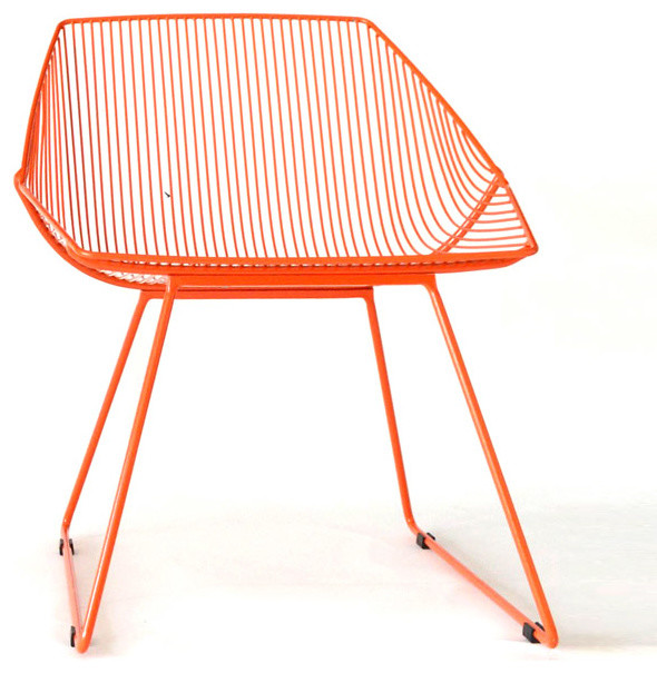 Bunny lounge chair orange contemporary outdoor lounge for Modern patio chairs