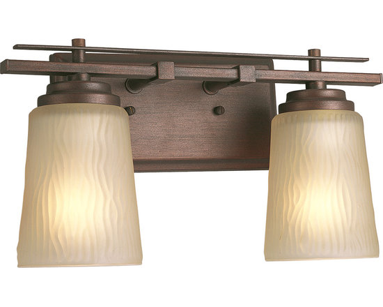 Progress Lighting P3093 Riverside Two-Light Bathroom Fixture with Etched Light T - Bring style to your accent lighting with the Riverside Fixture from Progress Lighting. Versatile and tranquil, this fixture is at home everywhere, from the bathroom to the living room.