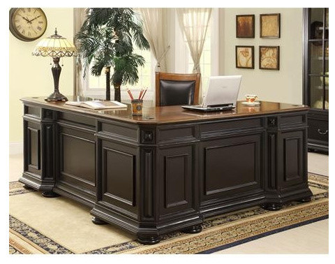 Allegro L-Shaped Executive Desk and Return - Modern - Home Office Accessories
