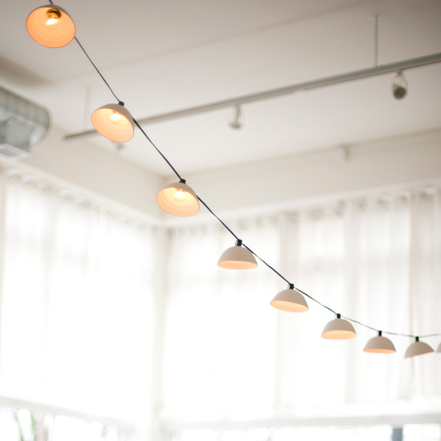 pleated string lights modern outdoor rope and string lights by