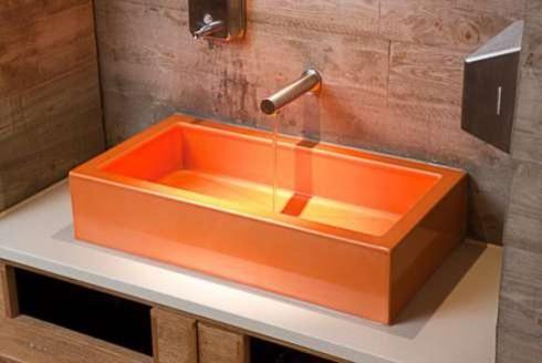 Coloful bathroom sink modern-bathroom-sinks