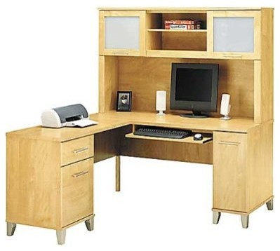 Bush Somerset 60 Inch Computer Desk With Hutch Bookcase