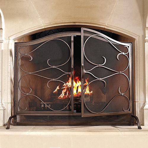 Douglas Arched Fireplace Screen Traditional Screens And Room Dividers By Frontgate