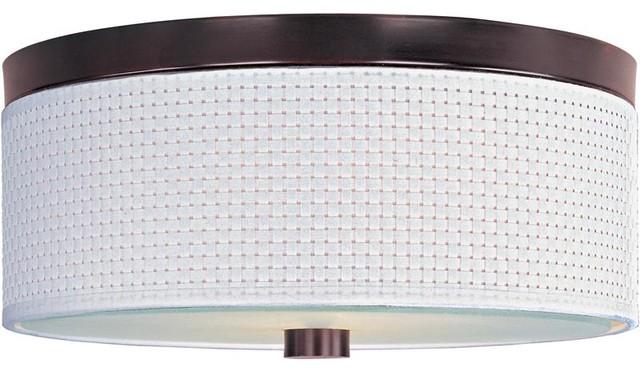ET2 Lighting E95102-100OI 3 Light Flush Mount Elements Collection contemporary-ceiling-lighting