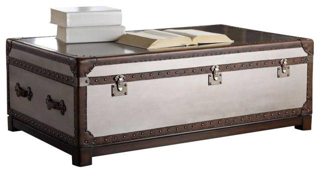 Hooker Furniture Melange Bondurant Cocktail Trunk transitional-decorative-trunks