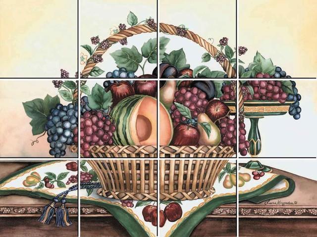 Fruit Basket 12-Piece Mural IdeaStix Peel And Stick