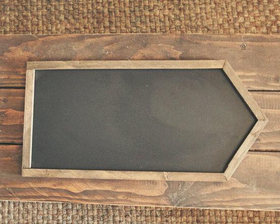 Rustic Chalkboard Directional Arrow by MXO Woodworking -