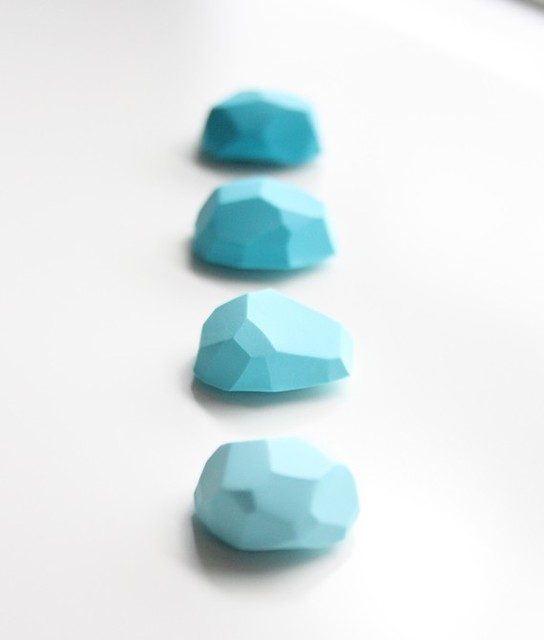 Office Magnets, Rocky Mountain Turquoise by A Second Life modern desk accessories