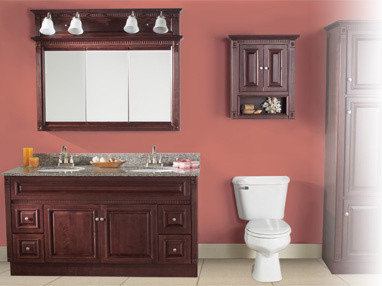 RTA Vanity Cabinets | Fluted Cherry Series - Bathroom Vanities And Sink Consoles - by Custom ...