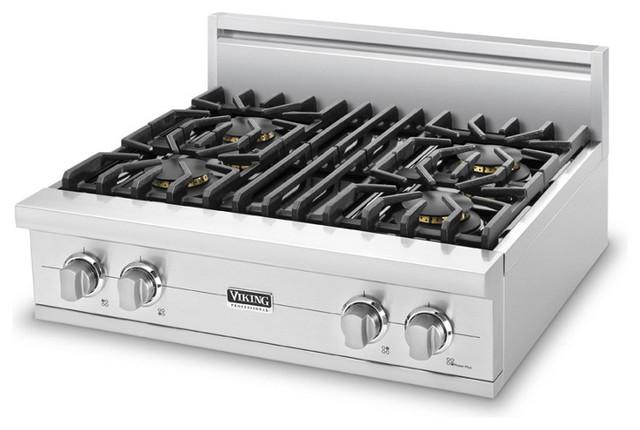 "Viking 30"" Pro-style Gas Rangetop Stainless Steel Liquid Propane   VGRT5304BSSLP cooktops"
