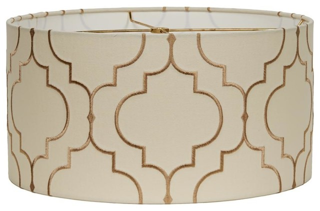 """16"""" Arabesque Pattern Drum Shade - Lamp Shades - by Shades of Light"""