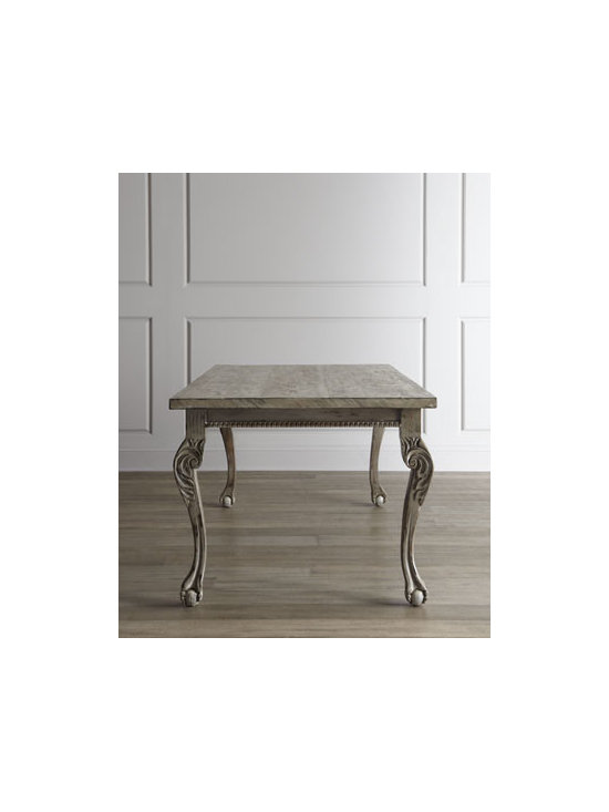"""Haute House - Haute House """"Liday"""" Dining Table - Carved legs and claw-and-ball feet add Old-World charm to this stately dining table. Made in the USA of reclaimed lumber. Hand-rubbed low-VOC (volatile organic compound) finish. 80""""W x 38""""D x 30""""T. From Haute House. Boxed weight, approximately 155...."""