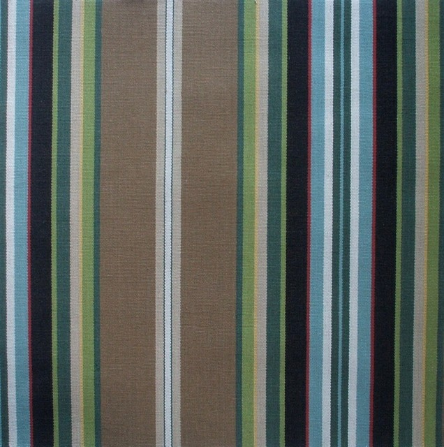 Brown Striped Shower Curtain