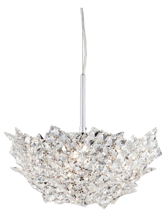 """Possini Euro Design - Possini Euro Neubau 14 3/4"""" Wide Crystal Basket Pendant - Crystal basket pendant. Chrome finish. Clear square crystal. Includes four 40 watt G9 halogen bulbs. Measures 14 3/4"""" wide 12"""" high. Includes 11 feet of cord. Canopy is 4 3/4"""" wide. Hanging weight is 6.2 lbs.  Crystal basket pendant.  Chrome finish.  Clear square crystal.  Includes four 40 watt G9 halogen bulbs.  Measures 14 3/4"""" wide 12"""" high.  Includes 11 feet of cord.  Canopy is 4 3/4"""" wide.  Hanging weight is 6.2 lbs."""