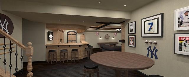 Basement Pub Sports Bar Traditional Rendering Ottawa