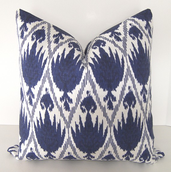 Decorative Designer Ikat Pillow Cover By Loubella1 - eclectic