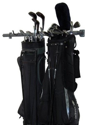 Monkey Bar Storage 3 Golf Bag Rack modern-wall-hooks