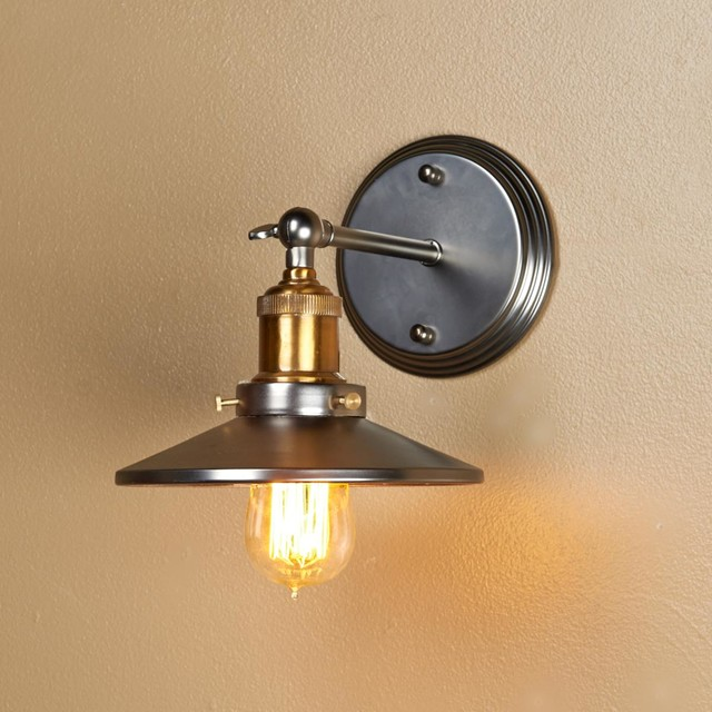 Wall Sconce Lamp Shades : Mirror Lined Cone Shade Wall Sconce - Lamp Shades - by Shades of Light