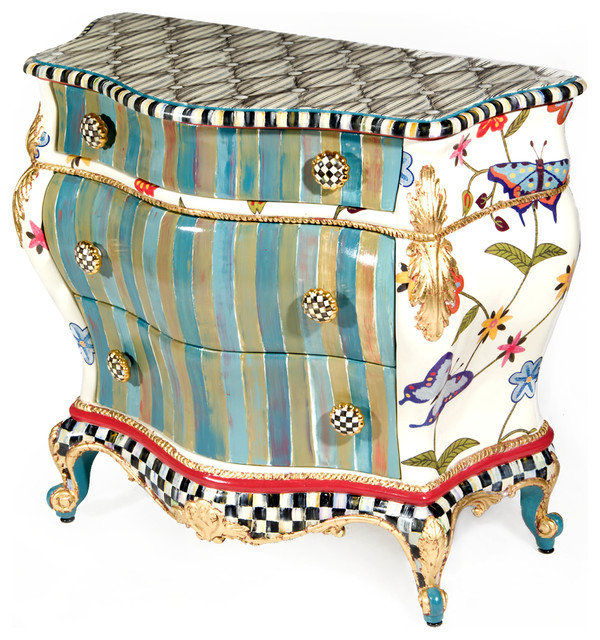 Butterfly large chest mackenzie childs eclectic for Eclectic furniture style
