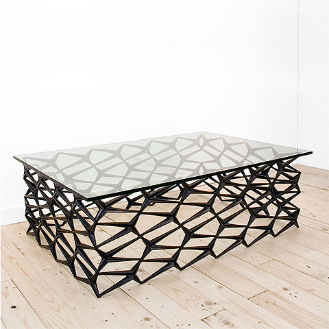 Fenced-In Table by Uhuru contemporary coffee tables