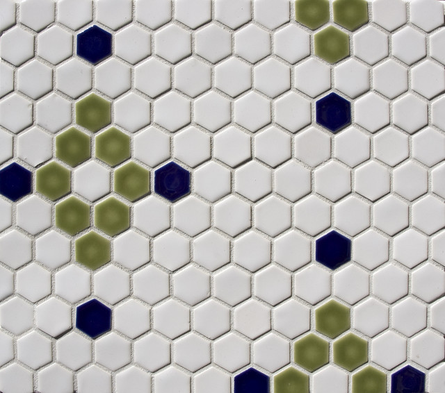 Hexagon pattern - Traditional - Tile - portland - by Pratt and ...