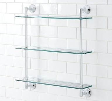 ... Triple Glass Shelf, Chrome finish traditional-display-and-wall-shelves