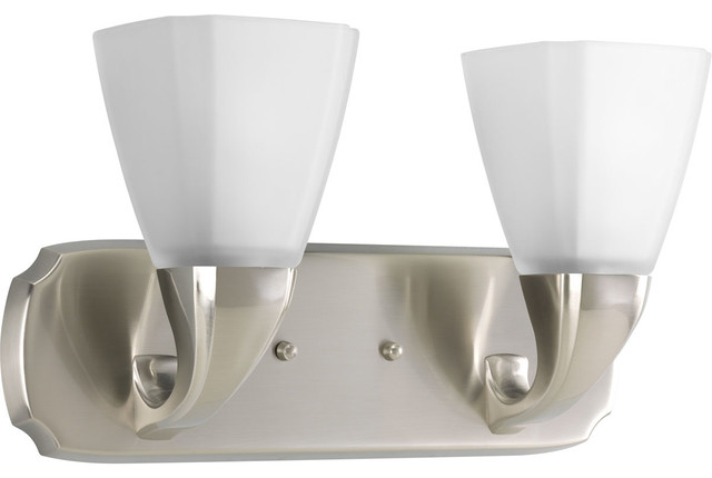 Delta Bath Match Addison 2 Light Bath And Vanity Fixture Transitional Bathroom Vanity