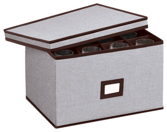 Eco-Fabric Stemware Chest - Modern - Storage Bins And Boxes - by The Container Store