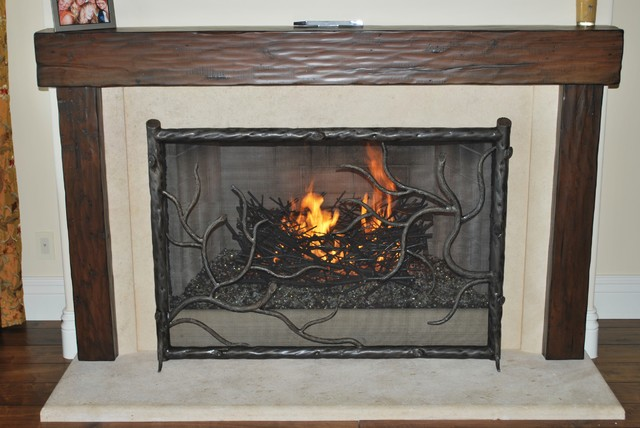 Gas logs craftsman fireplace accessories los angeles for Craftsman gas fireplace
