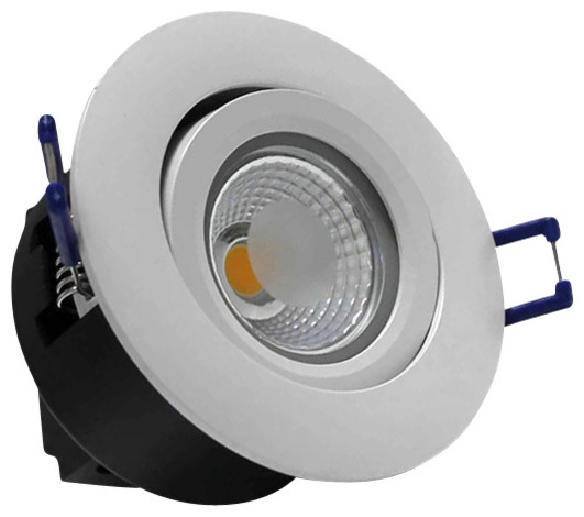 Recessed Directional Lighting Fixtures : Directional w cob led recessed ceiling light k