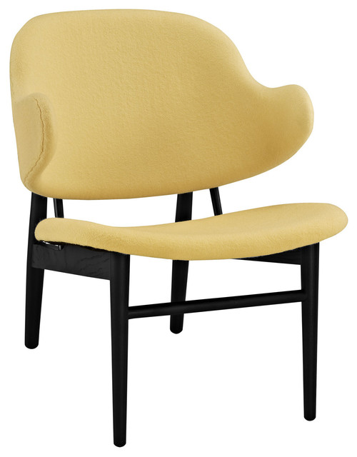Lounge Chair Black Yellow Contemporary Armchairs And