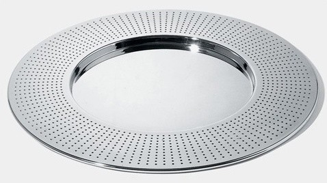 """Francesca Amfitheatrof 18.9"""" Round Tray modern-serving-dishes-and-platters"""