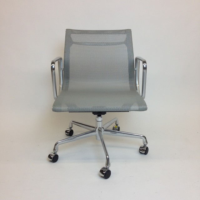 Herman Miller Eames Grey Mesh Desk chair - contemporary - chairs