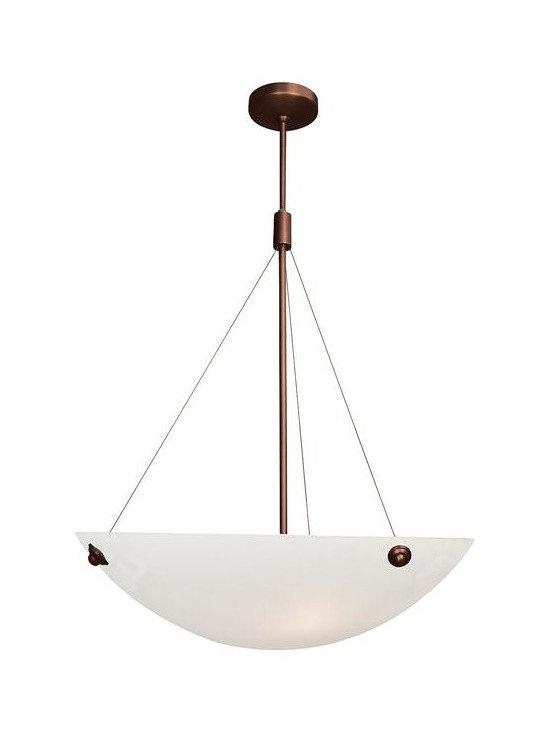 Access Lighting 23073-BRZ/ALB Four Light Bronze Down Pendant -