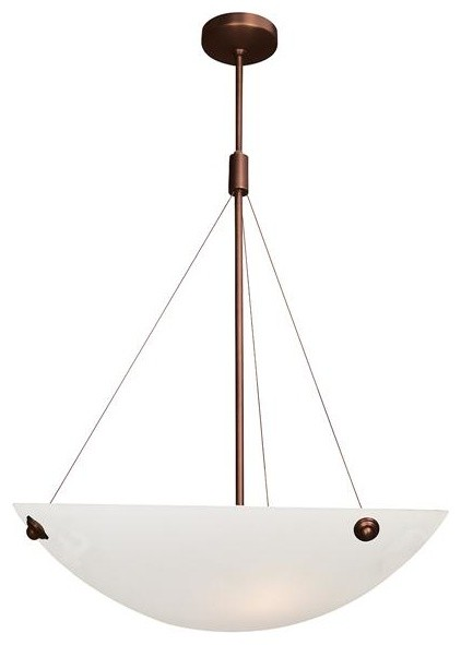 Access Lighting 23073-BRZ/ALB Four Light Bronze Down Pendant  pendant lighting