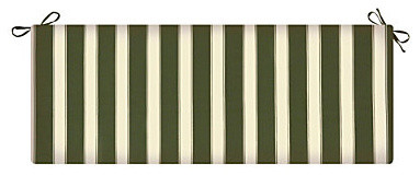 Bench Cushion 18x54x3 - Fern Green Awning Stripe contemporary outdoor pillows