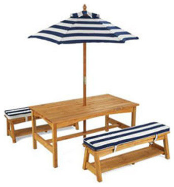 Kids 39 Outdoor Table And Bench Set Traditional Kids