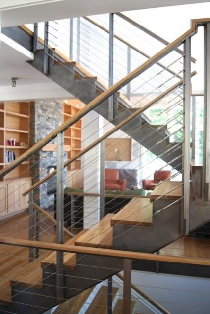 Lake House contemporary-staircase